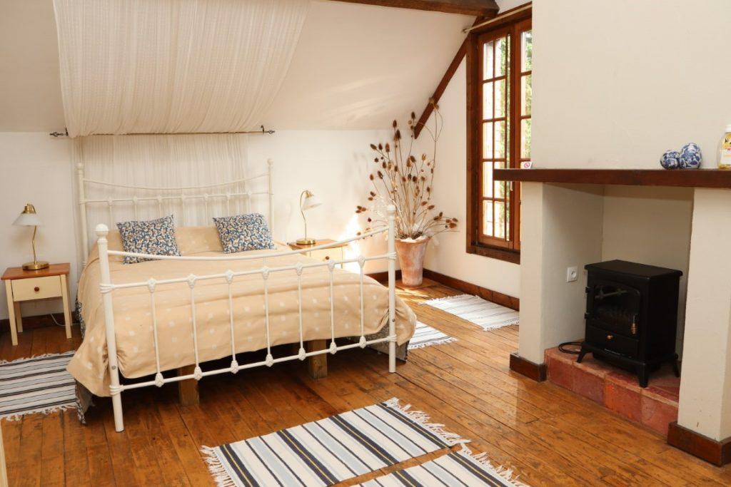 beautiful top floor bed and breakfast room
